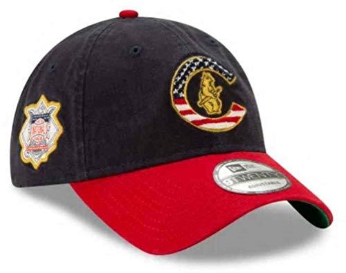 New Era 2019 MLB Chicago Cubs July 4th Flag Logo Baseball Cap Hat 9Twenty Adjust Navy/Red