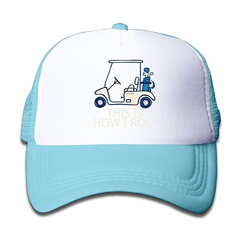 Xin Pilig This Is How I Roll Golf Cart Youth Mesh Hats Boys and Girls Baseball Trucker Cap
