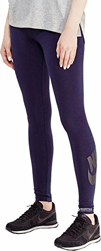 Nike Women's Sportswear Leg-A-See Tights, Obsidian/ Black Size X-Small
