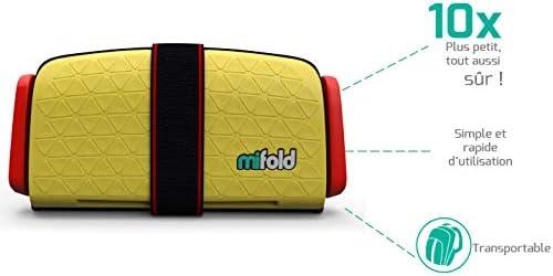 Le rehausseur enfant 10x plus compact quun rehausseur traditionnel et tout aussi s/ûr Mifold couleur jaune