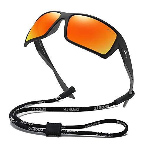Bevi Sports Sunglasses Polarized Lens/TR 90 Frame with Spring Hinges Glasses For Men Women Cycling Running Baseball 2677C4