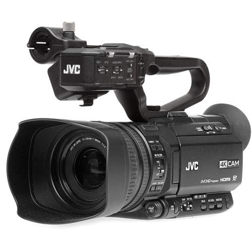 JVC GY-HM250SP Ultra 4K HD 4KCAM Professional Sports Production Camcorder with Top Handle Audio Unit (Sports Jvc Camera)