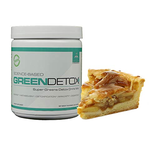 Green Detox - Superfood Drink Mix - Sugar Free, Vegan-Friendly - Over a Dozen Superfoods in Each Serving - Apple Pie Flavor