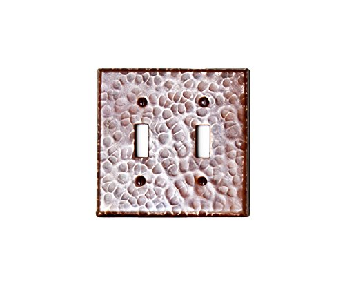 MALIBU Home MB_1508 Copper Double Toggle Switch Switchpla...