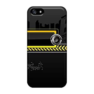 New Design Shatterproof Case For Iphone 5/5s (musical Vector)