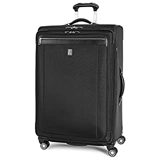 Travelpro Platinum Magna 2-Softside Expandable Spinner Wheel Luggage, Black, Checked-Large 29-Inch