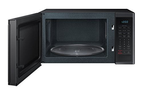 Samsung Ms11k3000as 1 1 Cu Ft Countertop Microwave With Ceramic Enamel Interior Silver