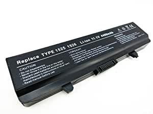 TTYY® Notebook Laptop dell inspiron Battery REPLACEMENT for Dell 0HP287 451-10478 451-10533 451-10534 GW952 HP277 HP287 J410N N586M RU583 RU591 UK716 WK371 WP193 XR682 XR694 Y823G Inspiron 1525 1526 1545 1546 PP29L PP41L Vostro 500