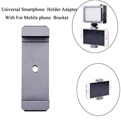 (Sodoop Smartphone Adapter Mount,Universal Cell Phone Adapter Holder Camera Clamp, Microphone Tripod Bracket for Mobile Phone)