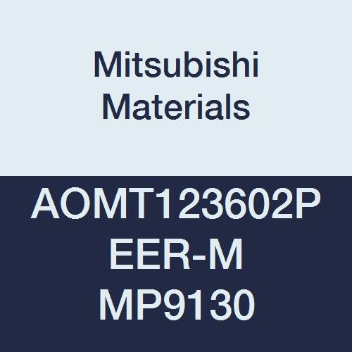 0.142 Thick Grade MP9130 Pack of 10 0.008 Corner Radius Round Honing Mitsubishi Materials AOMT123602PEER-M MP9130 Coated Carbide Milling Insert Class M Parallelogram 85/°