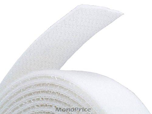 Monoprice 3-Pack Hook & Loop Fastening Tape 5 Yard/roll, 0.75-inch - White