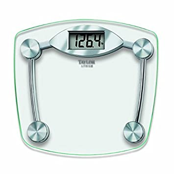 Taylor Glass and Chrome Digital Scale - Set of 2