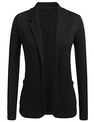 Concep Womens Open Front Blazer Long Sleeve Slim Fit Work Office Cardigan Jacket