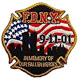 """2001 Embroidered Patches 5/"""" Diameter iron-on 3 Pcs FALLEN HEROES 9-11"""