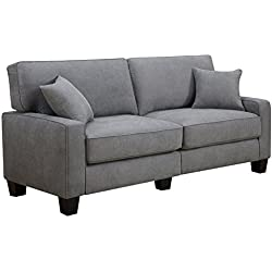 """Serta RTA Palisades Collection 78"""" Sofa in Glacial Gray"""
