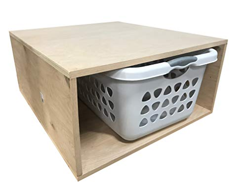 Unfinished Plywood Laundry Pedestal Without Drawer - Choose Your Size - 24W x 24L x 13H