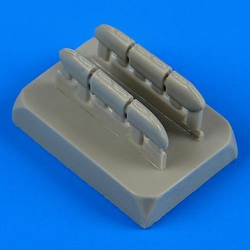 Quickboost 1:72 Hurricane Mk.I Early Exhaust for Airfix Kit - Resin #QB72-442
