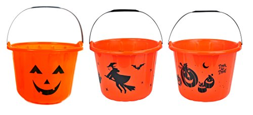 Trick Or Treat Bucket (Halloween Trick-or-Treat Candy Pail Buckets 9
