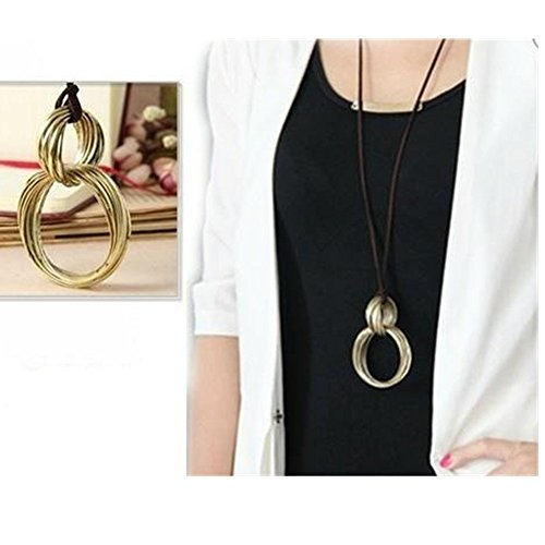 Fashion Simple Leisure Long Korean Velvet Cord Necklace Style Retro Sweater Chain Great for Women Pl2463 - Retro Style Necklace