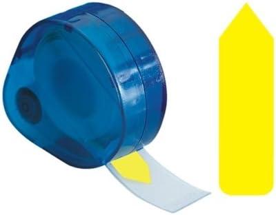 Estuche al por mayor de 25 – Etiquetas de flecha redi-tag lisas y extraíbles para escribir en la etiqueta, 9/16x1-7/8, amarillo: Amazon.es: Oficina y papelería
