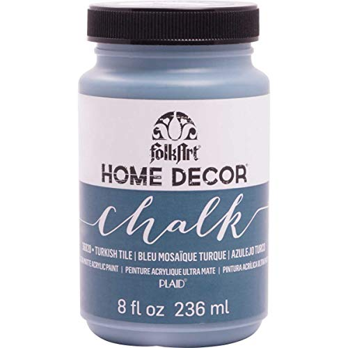 FolkArt 36020 Home Decor Chalk Furniture & Craft Paint in Assorted Colors, 8 ounce, Turkish Tile