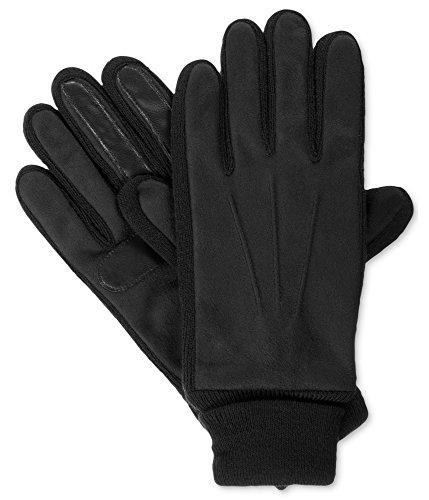 - Isotoner Signature Men's Knit-Cuff Gloves, Large, Black