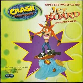 Crash Bandicoot Jet Board Snap Together Model Kit