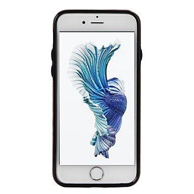 Fundas y estuches para teléfonos móviles, Para el iphone de la manzana 7 más el caso duro del cuerpo de la caja del sostenedor de la tarjeta 7 del cuero sólido de la PU del color ( Color : Rojo , Mode Rosado