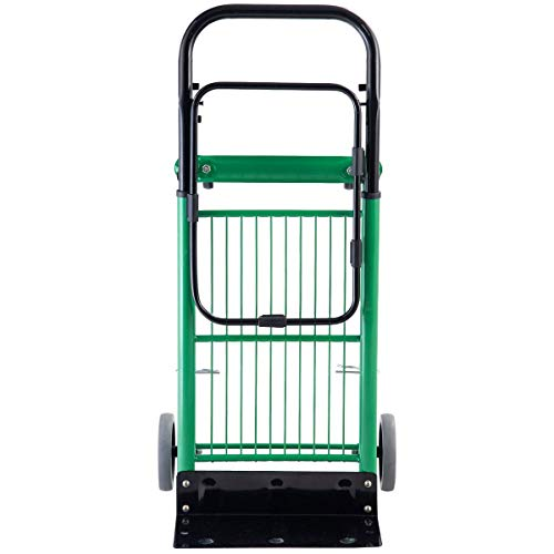 Superbuy Folding Hand Truck 2 in 1 Multi-Functional Dolly Gardening Lawn Leaf Bag Support Platform Truck Cart, 200Lbs Capacity for Light Load