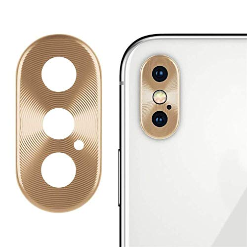 Sikye Metal Aluminum Rear Camera Lens Case Cover Protector Ring + Film for iPhone Xs/XS Max (iPhone Xs/XS Max, Gold)