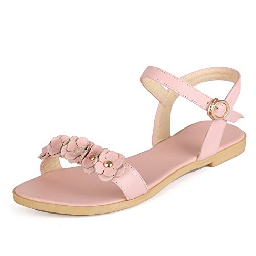 allhqfashion-womens-soft-material-buckle-open-toe-no-heel-solid-flats-sandals-pink-38