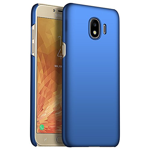 (for Samsung Galaxy J4 2018 Case, ZUERCONG [Smooth Series] Ultra-Thin Slim Anti-Fingerprints Anti-Scratch Anti-Drop Shockproof Hard Plastic Protective Back Phone Cases Cover, Smooth Blue )