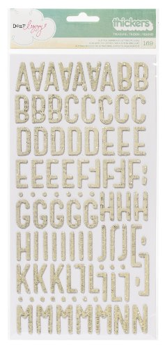 American Crafts Dear Lizzy Thickers Chipboard Glitter Van...