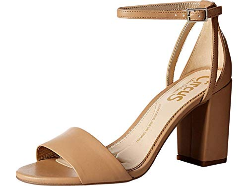 Circus by Sam Edelman Women's Oleana Heeled Sandal, Golden Caramel Sheep Nappa, 10 M -