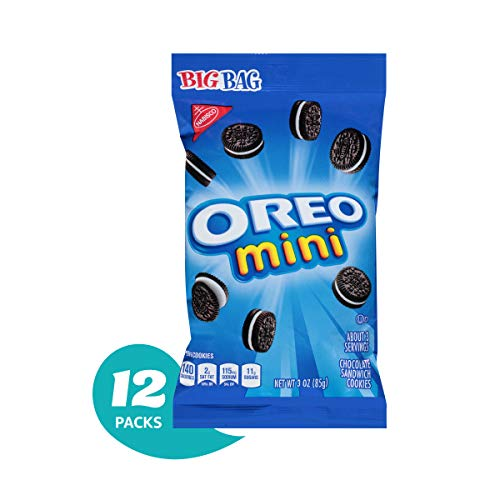 OREO Mini Chocolate Sandwich Cookies, Original Flavor, 12 Big Bags ()