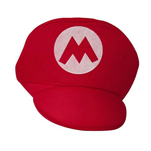 Laymily Halloween Dress Up Super Mary Hat Funny Cosplay Mario Louis Hat Performance Stage Props (Super Mario Day)