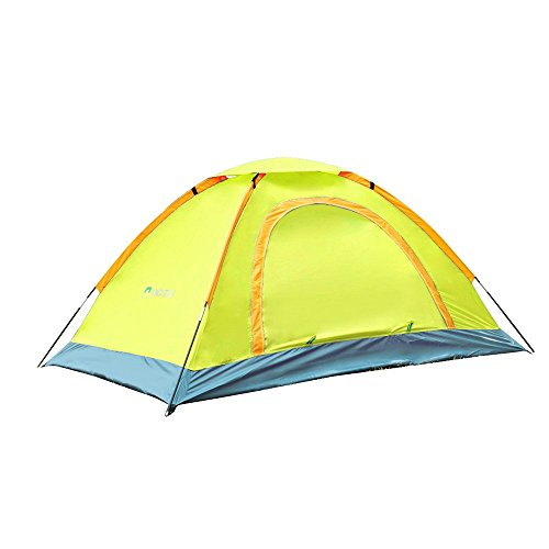 AOTU New Arrival Outdoor Portable Camping Tent for 2 Persons Waterproof UV-resistant Outdoor Travel Beach Portable Yellow