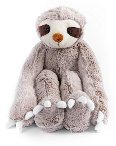 (Stuffed Animal Toy Sloth Ultra Soft. Perfect for Baby, Children, Kids, Adult, Safe with Velcro Hands 20.5