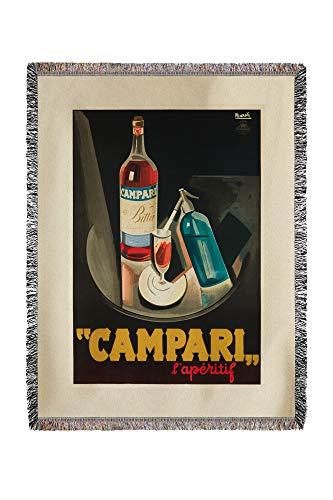 Lantern Press Italy - Campari - l'aperitif - (Artist: Nizzoli c. 1926) - Vintage Advertisement 61511 (60x80 Woven Chenille Yarn Blanket)