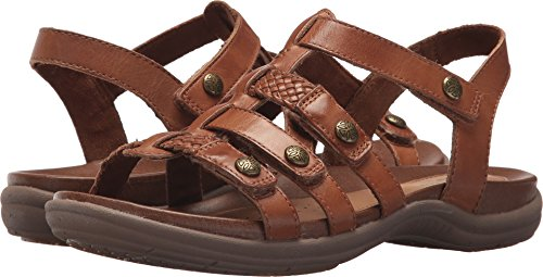 Rockport Cobb Hill Rubey T Strap Womens Sandal Tan Multi - 10 Medium