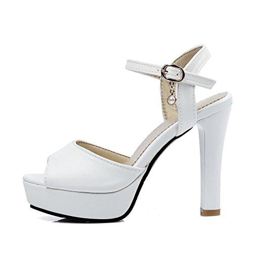 36 Ouvert EU Blanc AdeeSu Bout Femme Blanc 5 w7UxqzX5