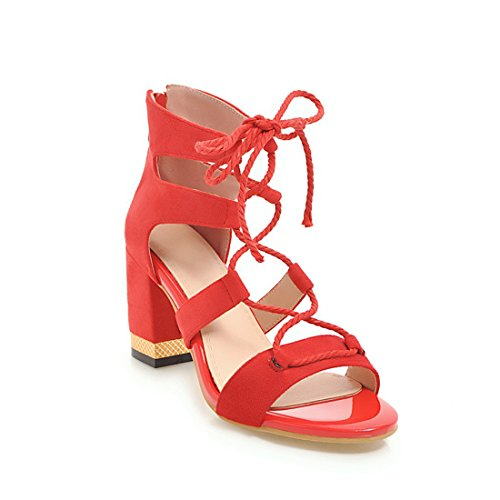 Zapatillas Mujeres Del Dedo Verano 43 Altos Fondo Talla Moda Vendajes Tobillo Del 32 Grueso Red Sandalias Pie TAMAÑO Grande Tacones 7qB7ZRrw