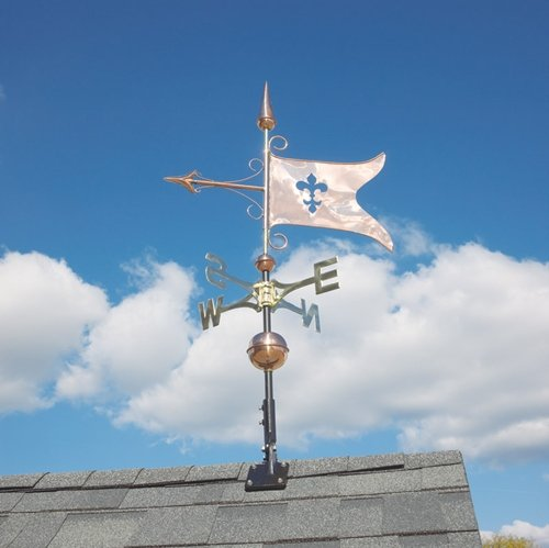 Whitehall Products Copper Banner Weathervane, Polished
