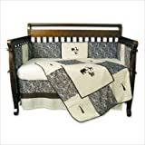 Sweet Safari Blue 4-piece Crib Set