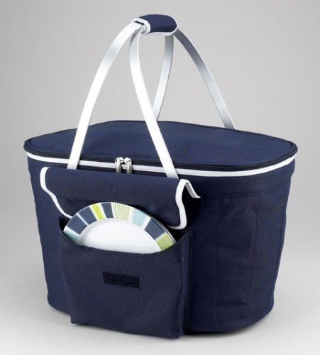 Collapsible insulated picnic basket for 4 : Picnic at ascot collapsible insulated basket