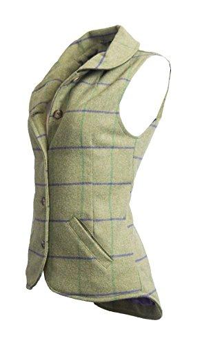 Walker & Hawkes – Dames Tweed Ashby Country Vest Gilet