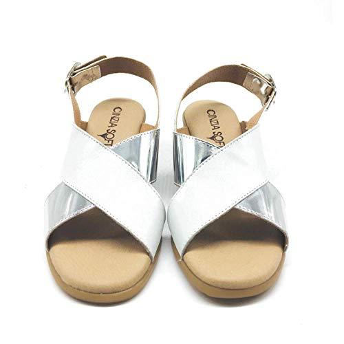 Donna Cinzia oe Tacco Soft Con Sandali Scarpe Argento 002 bianco Iel79302 rOwxrqaE0
