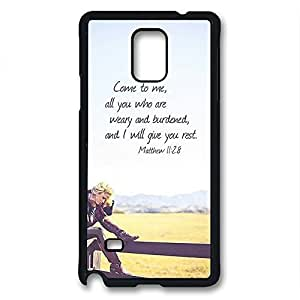 iCustomonline Custom Image Come to Me Hard PC Black Back Case Skin Cover For Samsung Galaxy Note 4 hjbrhga1544