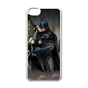 YUAHS(TM) DIY Cover Case for Iphone 5C with Batman and Catwoman YAS925277