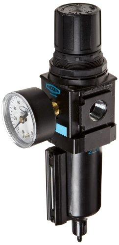 B18 Manual (Dixon B18-04MGMB Manual Drain Wilkerson Compact Filter/Regulator with Metal Bowl and Sight Glass, 1/2